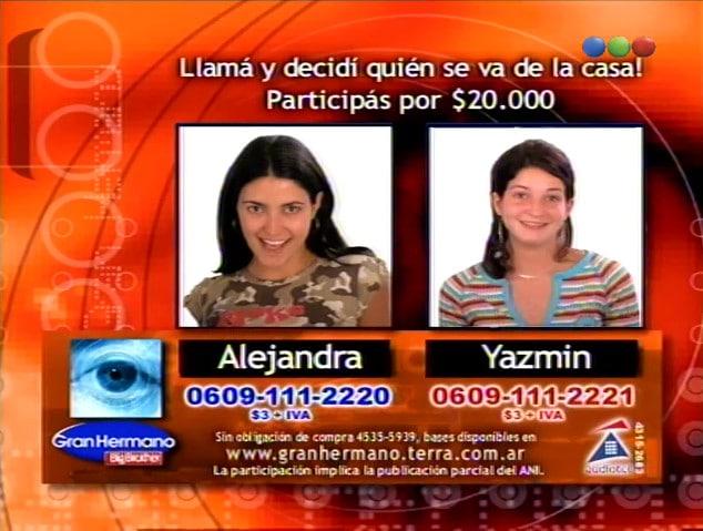 Alejandra Martínez y Yazmín Schmidt Nominadas Gran Hermano 2 Argentina