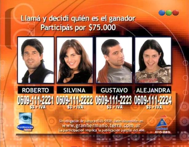 Finalistas de Gran Hermano 2 Argentina
