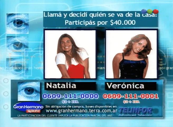 Verónica Zanzul y Natalia Fava Nominadas Gran Hermano 1 Argentina