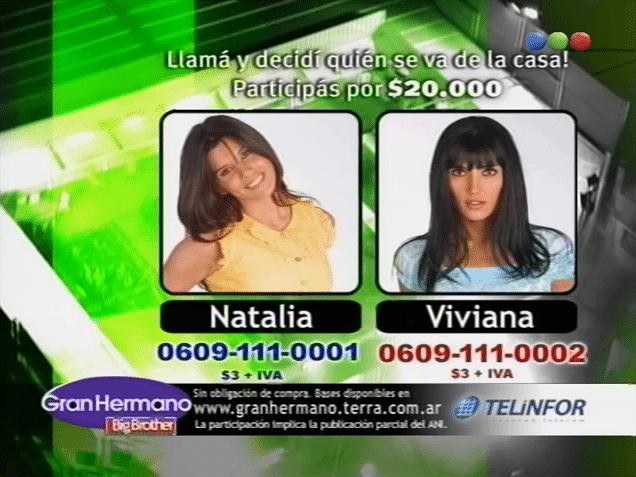 Viviana Colmenero y Natalia Quintiliano Nominadas Gran Hermano 3 Argentina