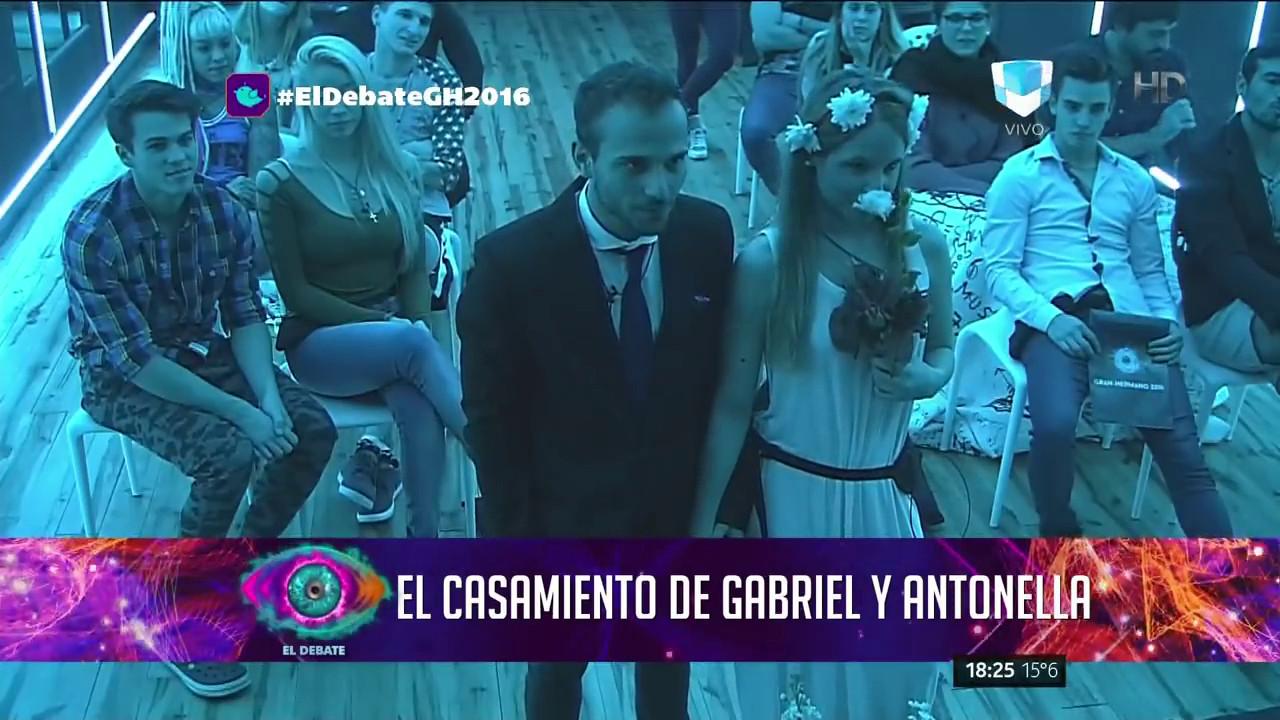 El casamiento de Gabriel y Antonella Gran Hermano 2016