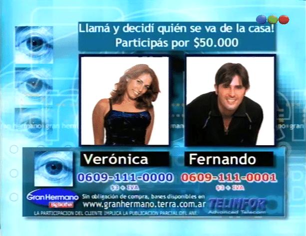 Fernando Navarro y Verónica Zanzul Nominados Gran Hermano 1 Argentina