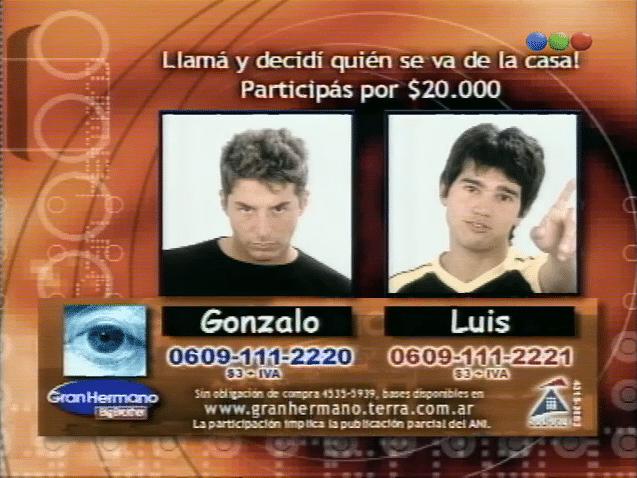 Gonzalo Novellino y Luis Biondi Nominados Gran Hermano 2 Argentina