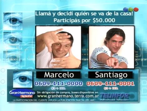 Marcelo Corazza y Santiago Almeyda Nominados Gran Hermano 1 Argentina