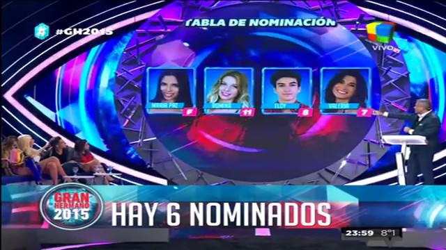 Maypi, Romina, Valeria, Eloy, Belén y Fernando son los nominados de GH 2015