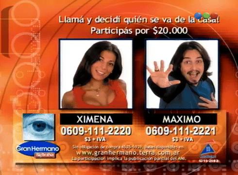 Ximena Capristo y Máximo Sacca Nominados Gran Hermano 2 Argentina